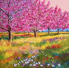 Peach trees in spring, Jean-Marc JANIACZYK