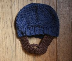 Knit Infant Beard Hat Pattern
