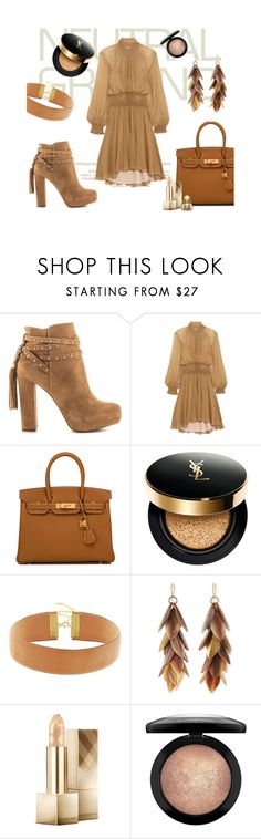 """""""Neutrals"""" by jersey84 ❤ liked on Polyvore featuring Jessica Simpson, Chloé, Hermès, Yves Saint Laurent, Taolei, Ashley Pittman, Burberry, MAC Cosmetics, Christian Dior and neutrals"""