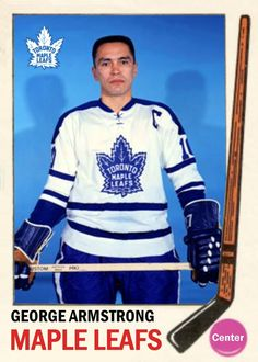 Missing in Action Hockey and Detroit Lions Football . - The Compleat Toronto Maple Leafs Hockey Card Compendium Detroit Lions Football, Pittsburgh Penguins Hockey, Hockey Mom, Ice Hockey, Nhl, George Armstrong, Maple Leafs Hockey, Hockey World, Hockey Cards