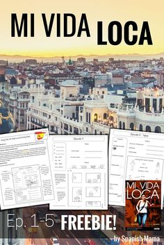 Mi Vida Loca Activity and Guide Freebie for Ep. Spanish 1, How To Speak Spanish, Spanish Notes, Spanish Music, Spanish Lesson Plans, Spanish Lessons, Spanish Language Learning, Teaching Spanish, Middle School Spanish