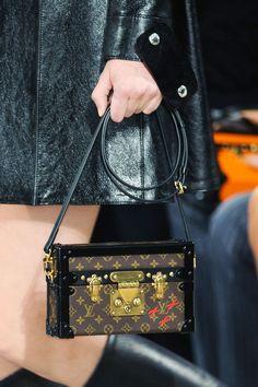 Louis Vuitton, New York Fashion Week Fall 2014. Ultra-chic handbag box with statement locks.