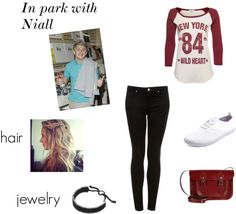 """In park with Niall 3"" by sarapavle ❤ liked on Polyvore"