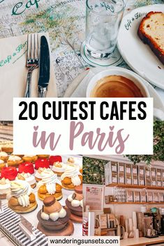 Here are 20 cutest cafes in Paris you need to visit on your next trip. There is nothing more Parisian than sitting at a terasse enjoying a cafe creme and delicious croissant.  if you are looking for the most Instagrammable cafes in Paris, or a yummy expresso and pastry you will find a cute cafe on this list! | best Paris cafes | Instagram Paris | Where to take photos in Paris | Beautiful Paris cafes | Pretty Paris Cafes |