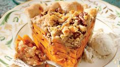Recipe:Sliced Sweet Potato Pie  We love the layered look of this ever-so-sweet streusel-topped treat.