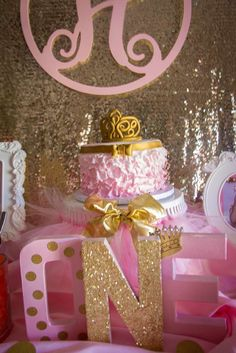 Pink and Gold Birthday Party Ideas Birthday Menu, 1st Birthday Girls, First Birthday Parties, Birthday Party Themes, First Birthdays, Birthday Ideas, Pink Gold Party, Pink And Gold Birthday Party, Golden Birthday