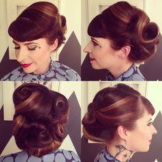 Vintage updo by Lauren Franz-Maurer at Mint Hair Studio in Scottsdale, Arizona.