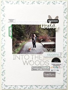 A 9 x 12 inch layout with Special Guest Tracy