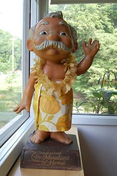 VINTAGE UNITED AIRLINES MENEHUNE OF HAWAII FIGURE Vintage Tiki, Vintage Hawaii, Vintage Travel, Tropical Art, Tropical Paradise, Moving To Hawaii, Hawaiian Art, Airline Travel, Aloha Hawaii