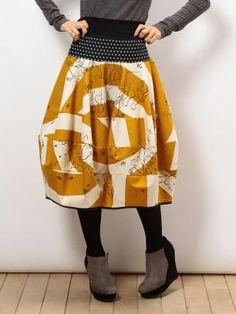 ライチ| PICTURES |2WAYバルーンスカート Japanese Sewing, Kimono Fabric, Dress Making, Ruffles, Upcycle, High Waisted Skirt, How To Make, How To Wear, My Style