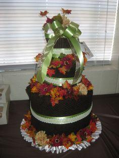 Towel Cake - Bridal Shower Gift- Fall Wedding