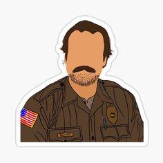 Hopper Stranger Things, Lucas Stranger Things, Stranger Things Funny, Tumblr Stickers, Cute Stickers, Journal Stickers, Aesthetic Stickers, Vinyl Decals, Netflix