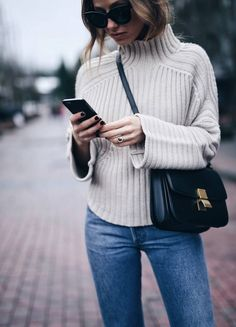 Style and beauty blogger Jill Lansky of The August Diaries Whistler travel  diary in turtleneck Celine d9c34bc8ab