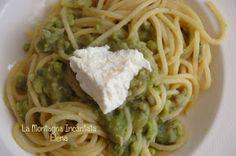 La Montagna Incantata: Spaghetti con macco di fave e ricotta