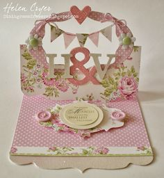 The Dining Room Drawers: Sizzix Flying Easel New Baby Twins Card