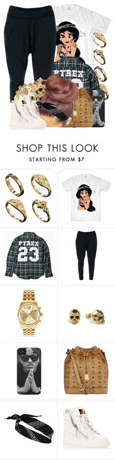 """""""It's a new art form showing people how little we care. :p"""" by jamilah-rochon ❤ liked on Polyvore featuring ASOS, Pyrex, Zara, Michael Kors, Kasun, MCM, River Island and Giuseppe Zanotti"""