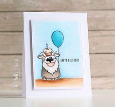 Simon Says Stamp Birthday Farm Animals stamp set.  Copic colored.  Birthday.
