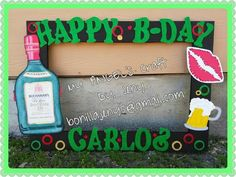 Marco para Fiesta_Photo_Frame_Part_Buchanas 21st Birthday, Birthday Parties, Gucci Cake, Party Themes, Party Ideas, Photo Frame Prop, Beer Day, Angel Crafts, Party Planning