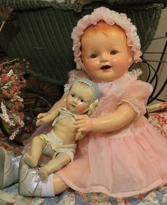 Composition baby doll. Looks very similar to the one I had when I was 6