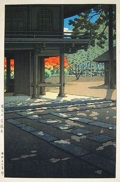 "川瀬巴水 Hasui Kawase『野火止 平林寺』"" Heirinji Temple""(1952)"
