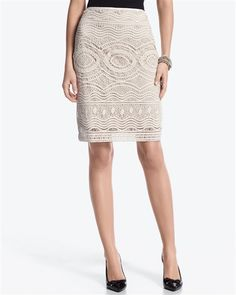 Love the pattern on this one!      Crochet Pencil skirt