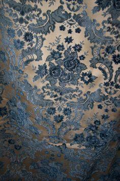 French velvet brocade curtains
