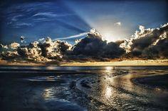 Atlantic Sunrise by Dan Wilson Gallery-Wrapped Floater-Framed Canvas
