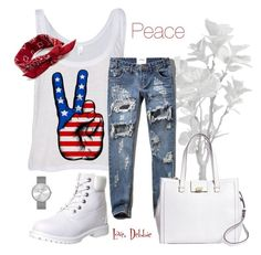 """Peace"" by debbie-michailides ❤ liked on Polyvore featuring Abercrombie & Fitch, Timberland, Brooks Brothers, ASOS and Marc by Marc Jacobs"