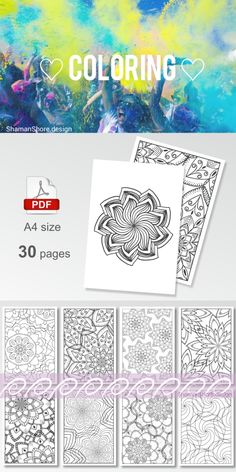 #ShShPrintables Mandala coloring pages for grown ups   Printable mandala coloring book for adults on Etsy   detailed complex coloring pages, adult coloring