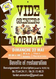 affiche Vide greniers de Lordat
