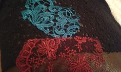 Lace samples, fretwork and net.