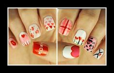 10 Εύκολα nail art για την ημέρα των ερωτευμένων! | ediva.gr Nail Art, Nails, Beauty, Finger Nails, Ongles, Nail Arts, Nail, Beauty Illustration, Manicures