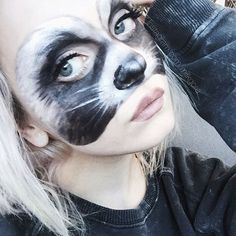 Raccoon filther should be the new hoe filter  (I'm just gonna pretend that the panda emoji is a raccoon o3o). It's makeup btw c: