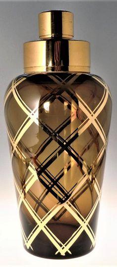 Bohemian Czech Art Deco Glass Shaker set with 6 Glasses by Podbira Brothers - Novy Bor Haida Art Deco Glass, Czech Glass, Perfume Bottles, Bohemian, Glasses, Beauty, Eyewear, Eyeglasses, Perfume Bottle
