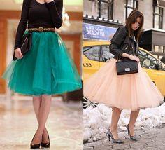 Cómo hacer una falda de tul con vuelo a la moda de esta primavera                                                                                                                                                                                 Más