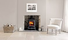 Cosy up to your AGA Fireplace this Winter High End Kitchens, Home Kitchens, Timeless Design, Modern Design, Kitchen Centerpiece, Stove Fireplace, Log Burner, Modern Fireplace, Luxury Interior