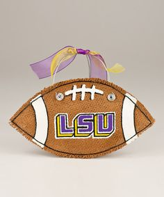 Take a look at this Louisiana State Small Football Burlap Wall Hanging by Glory Haus on #zulily today!