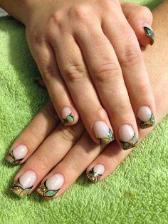 Acrylic camo nail design