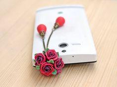 Cell phone dust plug phone accessories handmade by Joyloveclay, $18.00