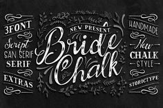 BrideChalk Typeface by StoricType on @creativemarket
