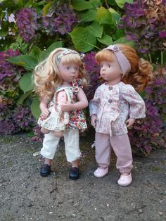 Sylvia Natterer Minouche dolls dressed by Les cheries de Vaniline. Lots of different dolls in gorgeous clothes.