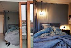 The bedroom area in the studio at Hotel Ferdinand.