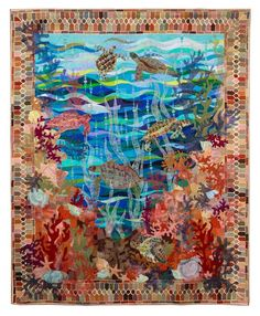 Pictorial Quilts, 1st Place: Turtle Bay by Claudia Pfeil.  2013 Northwest Quilting Expo.