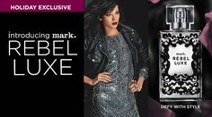 Part edgy, part opulent - mark. Rebel Luxe! #fragrance #markgirl #perfume #holidaygifts #giftideas #giftsforher