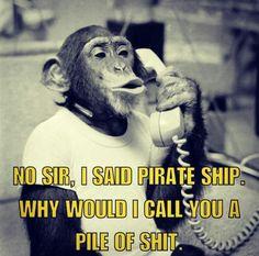 No Sir I Said Pirate Ship....