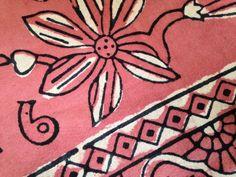 BATIK KLEED - India roze