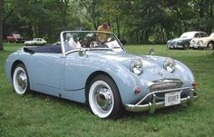 Austin Healey Bug Eye Sprite in Powder Blue Vintage Sports Cars, British Sports Cars, Classic Sports Cars, Vintage Cars, Antique Cars, Classic Cars, British Car, Automobile, Convertible