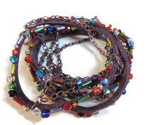 Boho beaded suede cord bracelet/Beaded bracelet/Bohemian bracelet/Natural suede…