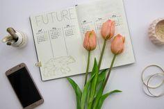 Future Log für Planung von künftigen Terminen im Bullet Journal