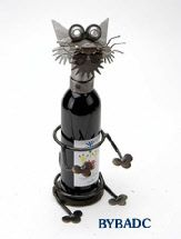 Wine Caddy, Cat,  by Yardbirds,  Starting at $49, Recycled Metal @ weemsgallery.com